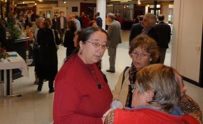 Catherine Legeais aux Journées du livre contre la misère, au centre culturel Le Triangle à Rennes en octobre 2008 (ph. JC Sarrot).