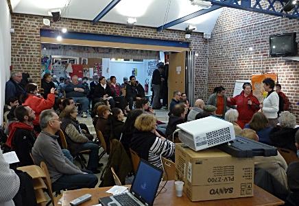 Lancement officiel du projet lors de l'université populaire Quart Monde le 29 janvier 2011 à Lille