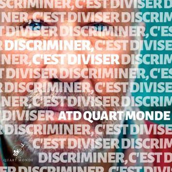 Autocollant Discriminer, c'est diviser