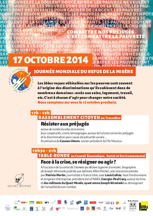 Programme Journée mondiale refus misère 2014-BD