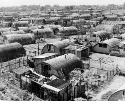 Le bidonville de Noisy-le-Grand, en Seine-Saint-Denis, en 1966 (ATD Quart Monde)